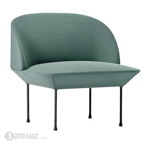 Prime Muuto Oslo Lounge Chair Green 3D Model Machost Co Dining Chair Design Ideas Machostcouk