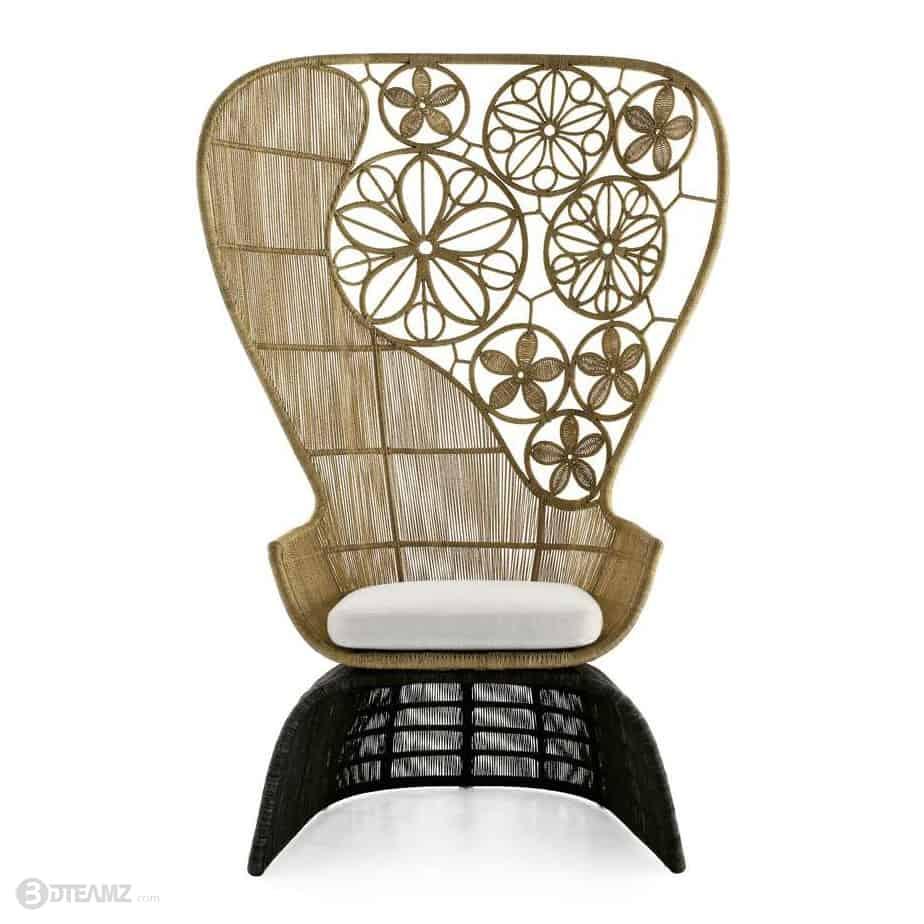 B b italia crinoline outdoor armchair 3d for B b italia outdoor