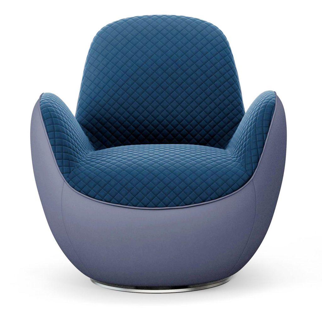 Wondrous Roche Bobois Aircell Fauteuil Blue Chair 3D Model Bralicious Painted Fabric Chair Ideas Braliciousco
